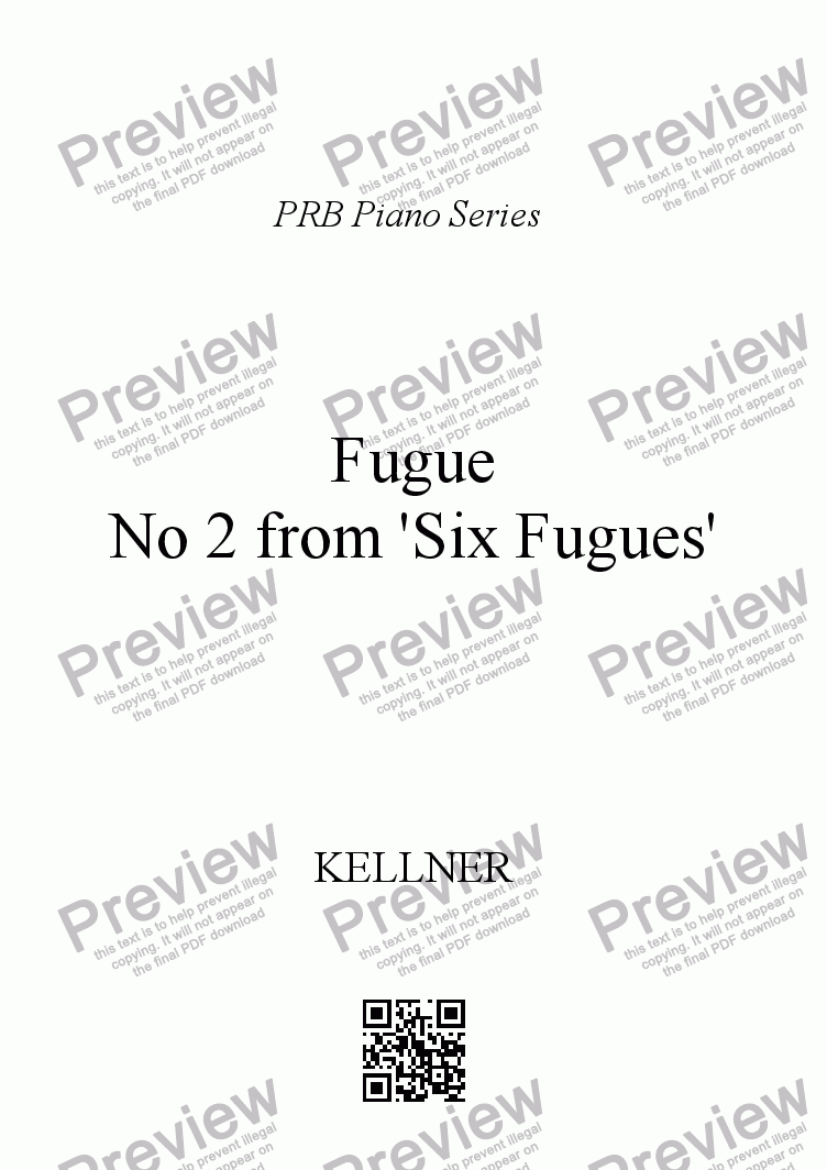 page one of PRB Piano Series: Fugue in C