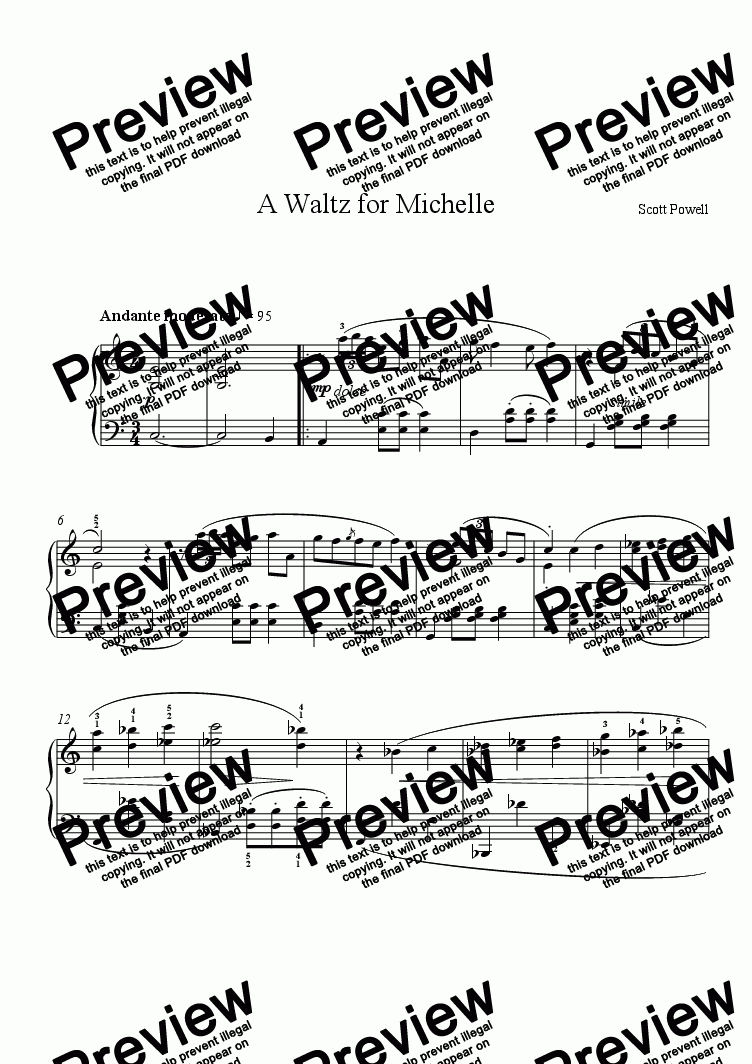 page one of A Waltz for Michelle