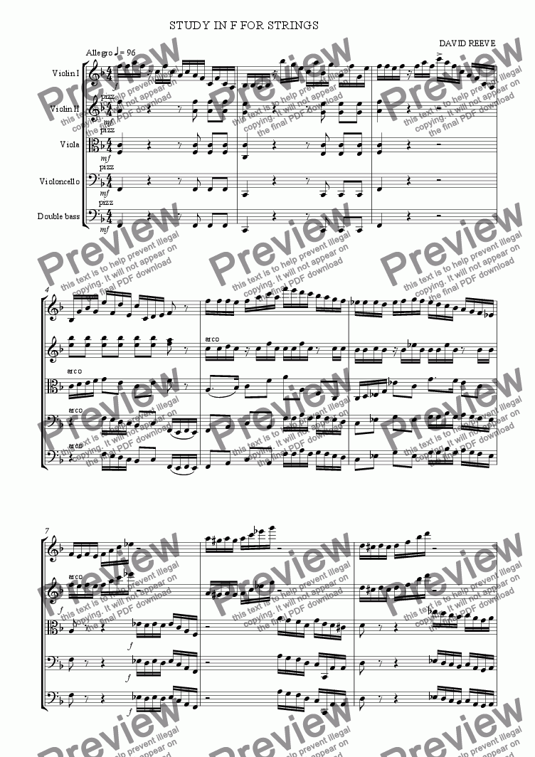 page one of study in f for stringsASALTTEXT