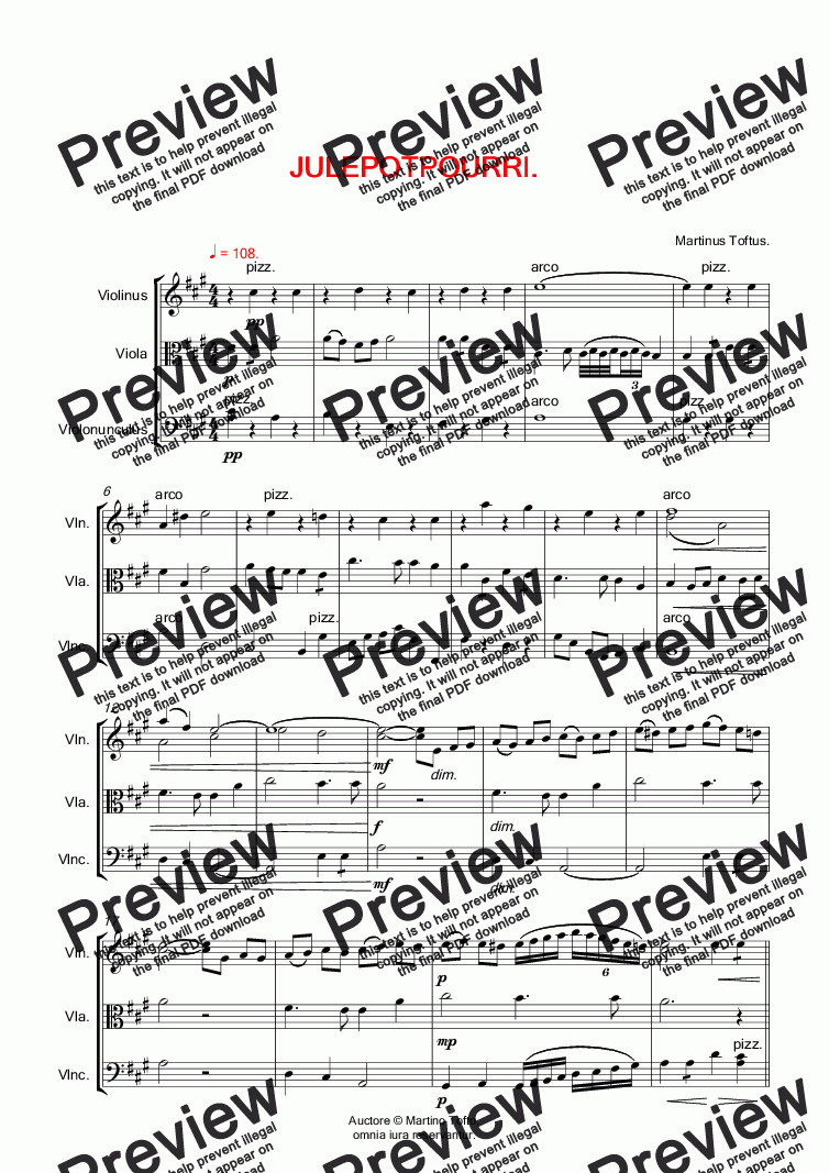 page one of CHRISTMAS MEDLEY for violin, viola & violoncello.