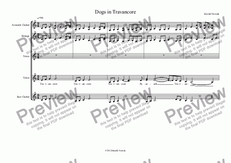 page one of Dogs in Travancore