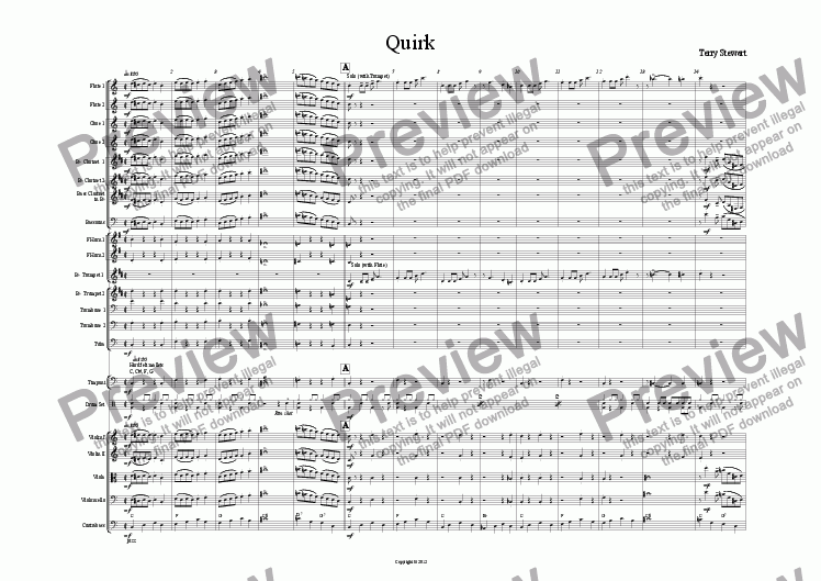 page one of Quirk (Orchestra)ASALTTEXT