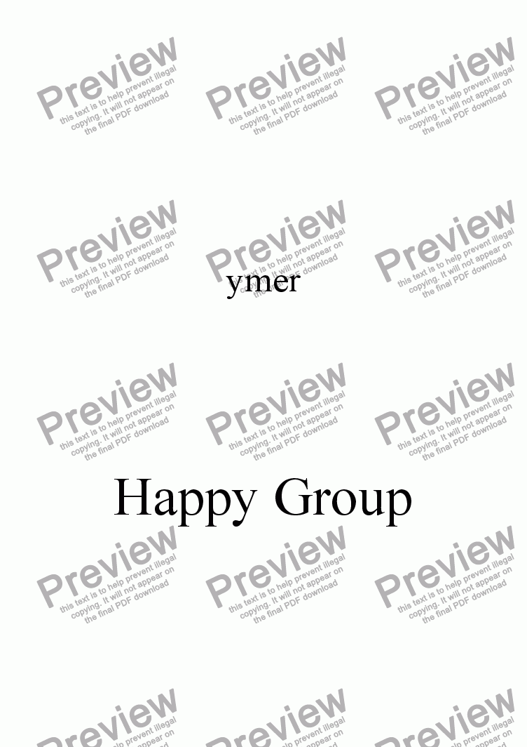 page one of Happy Group