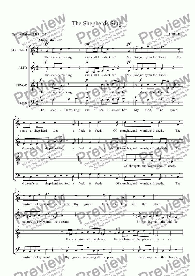 page one of The Shepherds Sing