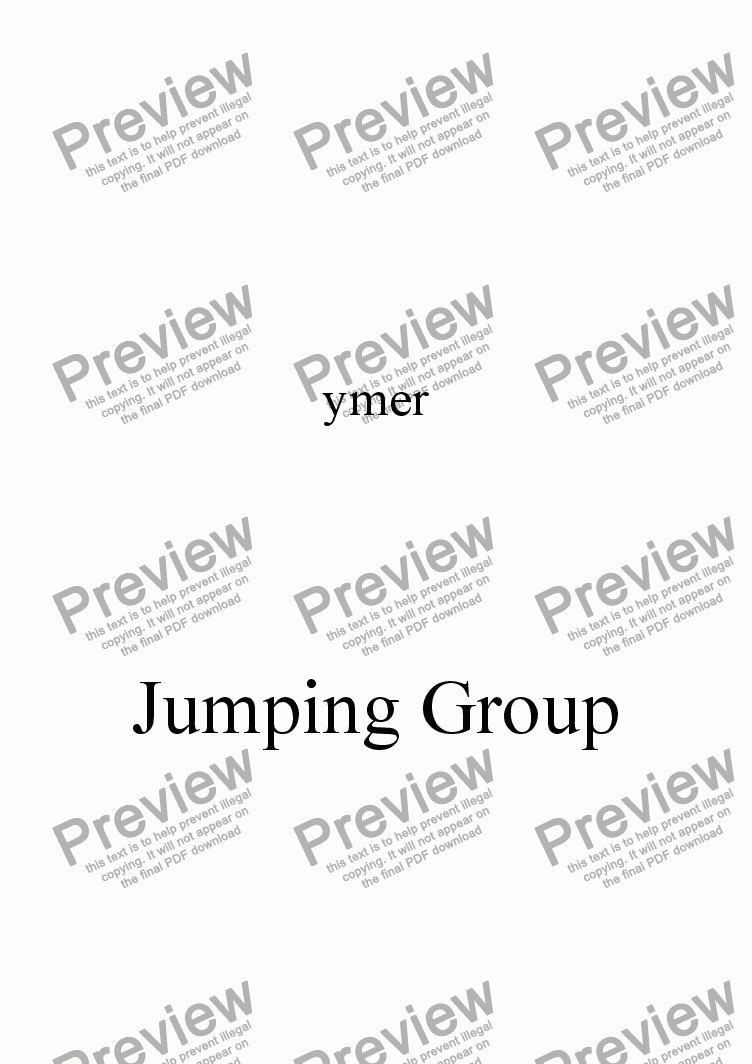 page one of Jumping GroupASALTTEXT