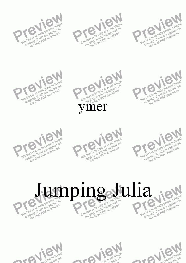 page one of Jumping Julia