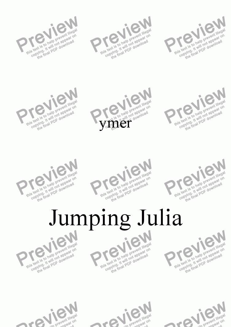 page one of Jumping JuliaASALTTEXT