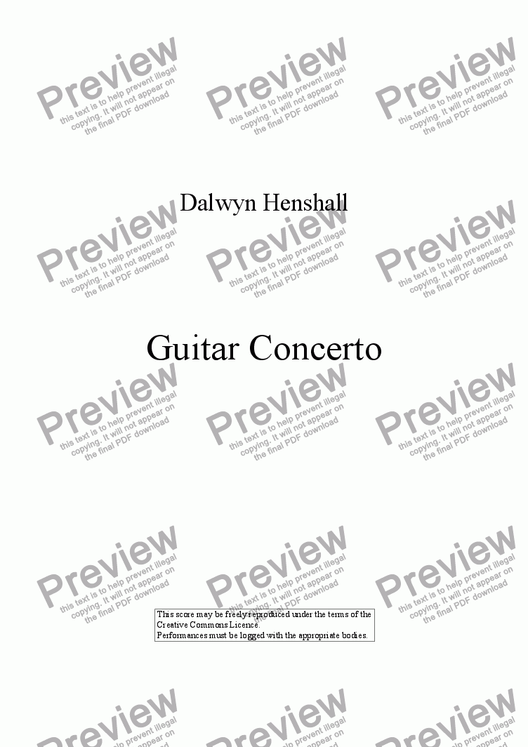 page one of Guitar Concerto: I [+mp3]