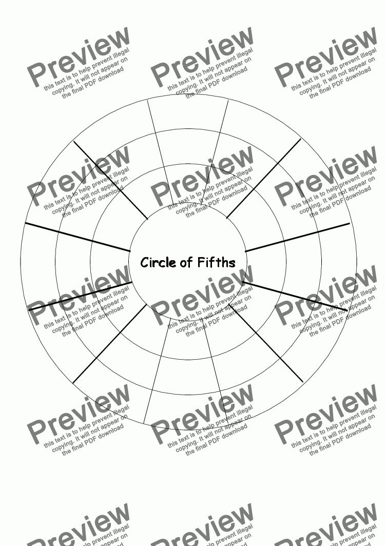 Template: Circle of Fifths - Download Sheet Music PDF file