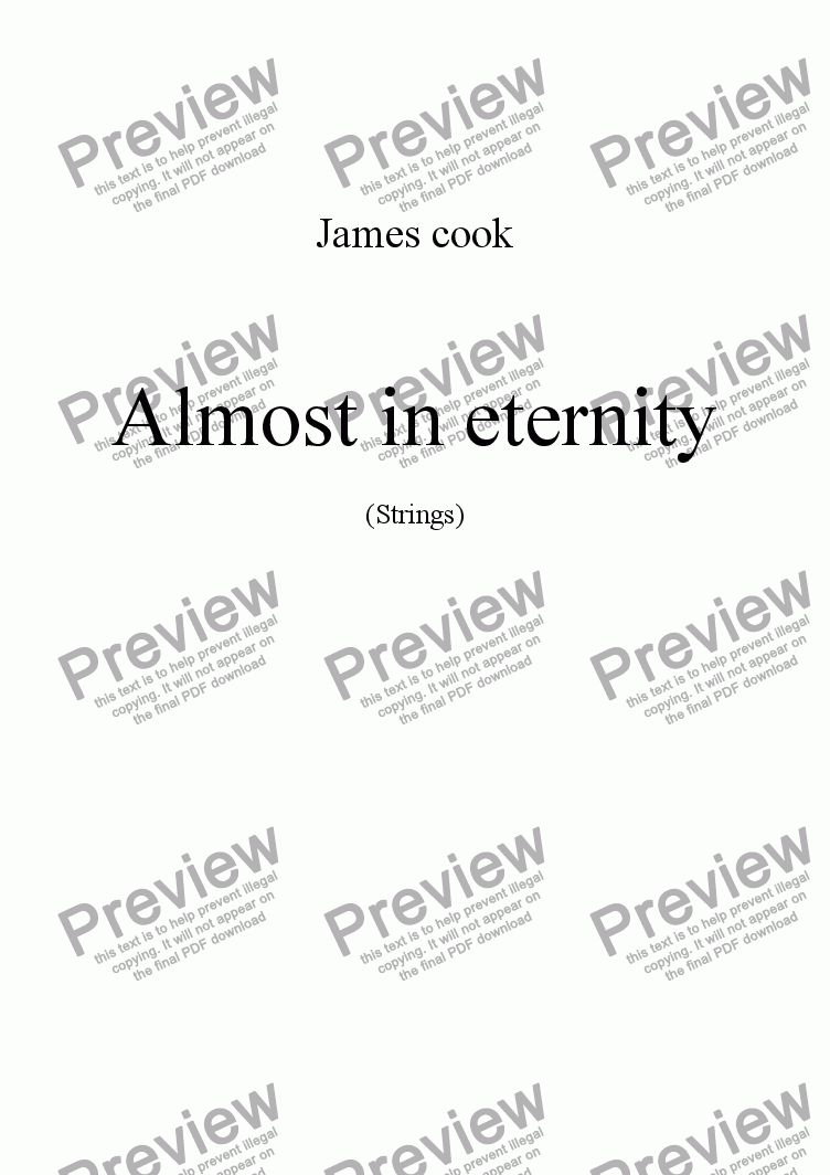 page one of Almost in eternity