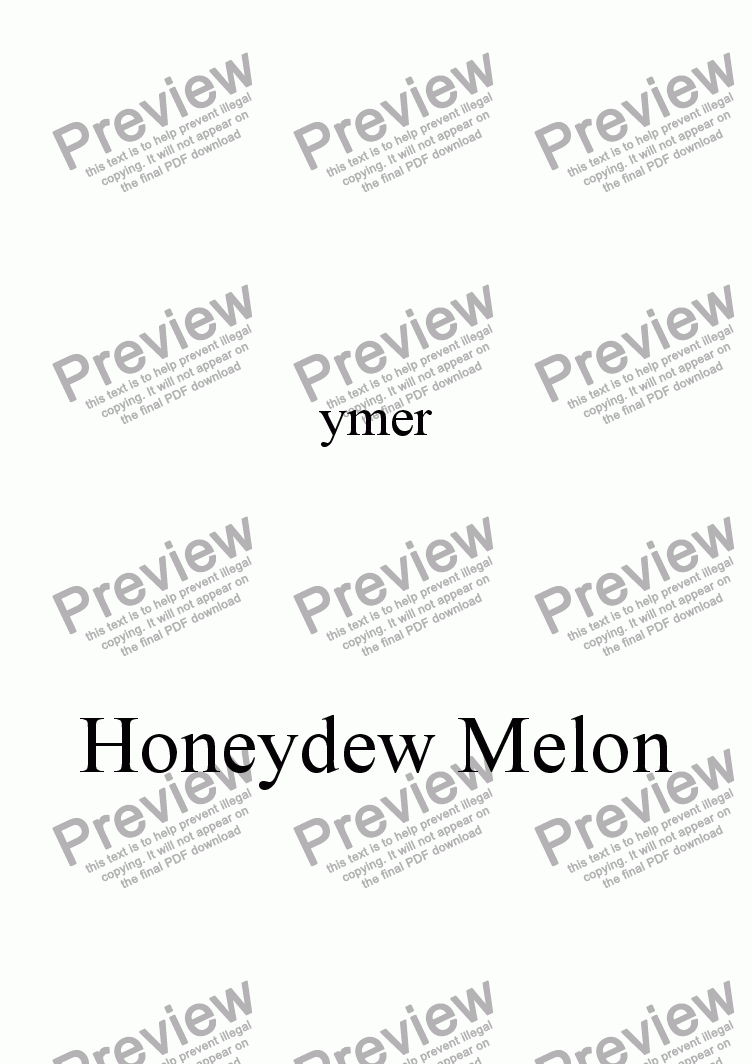 page one of Honeydew Melon