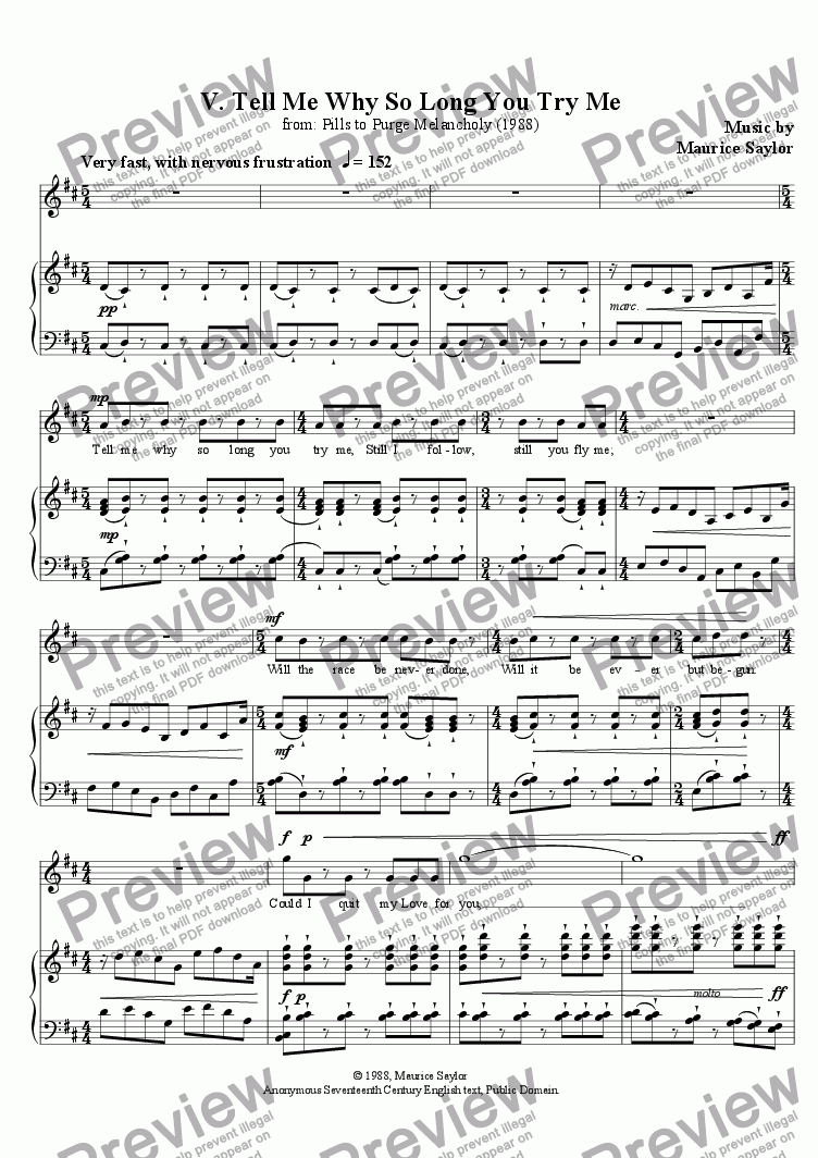 page one of Pills to Purge Melancholy  V. Tell Me Why So Long You Try MeASALTTEXT