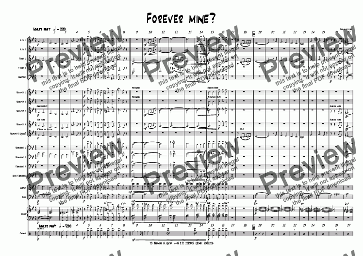 page one of Forever mine? - Big band