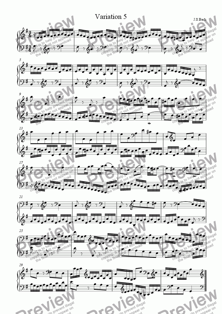 page one of J.S.Bach - Goldberg Variations 05