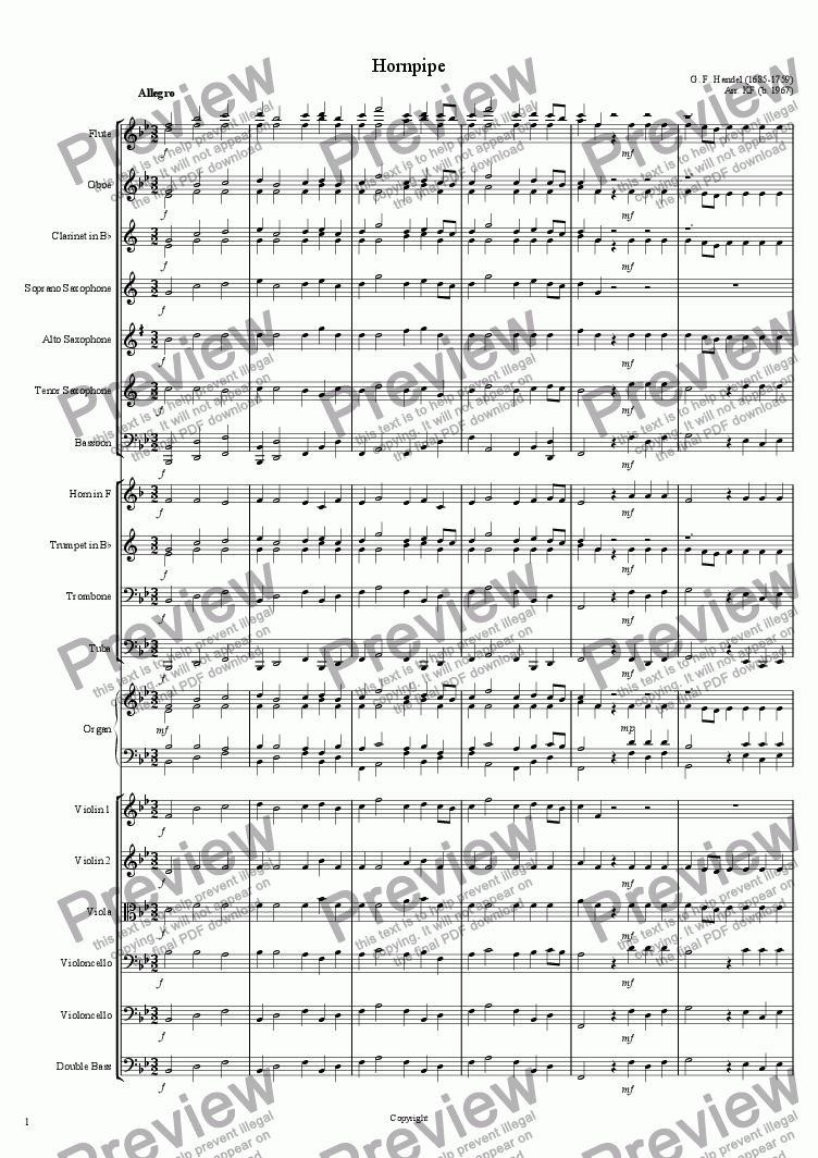 page one of Hornpipe - OrchestraASALTTEXT