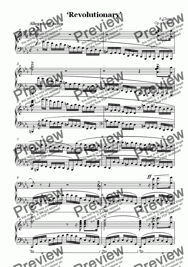 page one of <b>Chopin Etude Revolutionary</b>