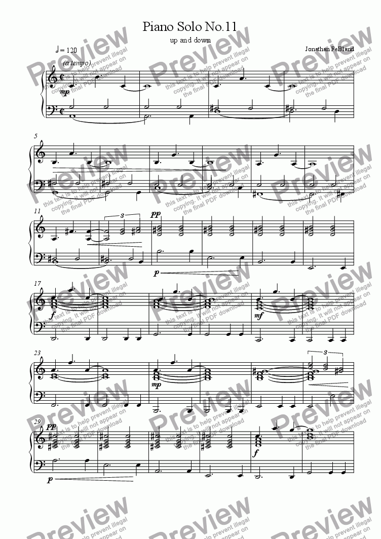 page one of Piano Solo No.11