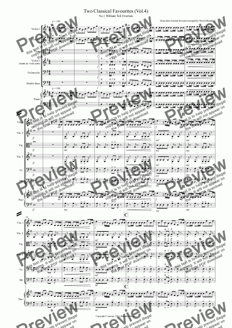 page one of 2 Classical Favourites for String Orchestra (volume four)ASALTTEXT