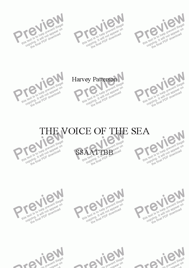 page one of THE VOICE OF THE SEA