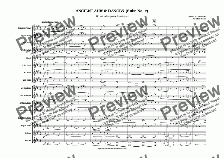 page one of Respighi - ANCIENT AIRS & DANCES  (Suite No. 2)