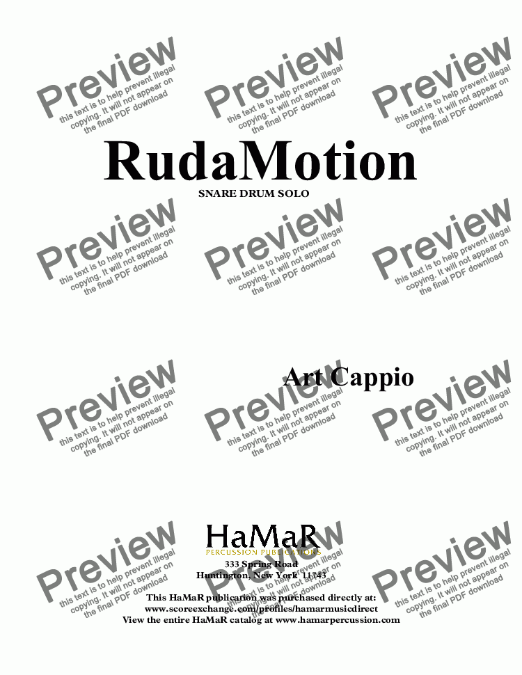 page one of Rudamotion