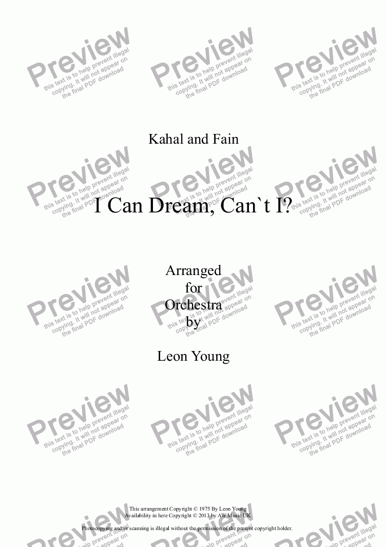 page one of I Can Dream, Can`t I?