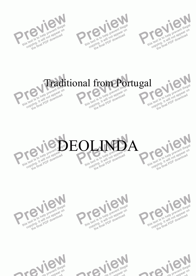 page one of DEOLINDA