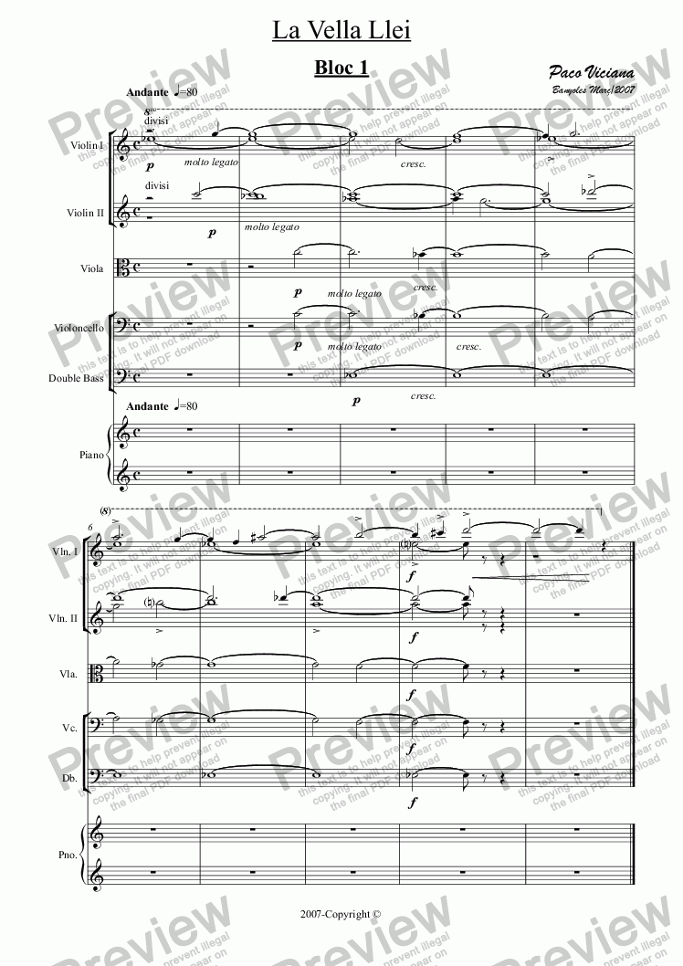 page one of 221-La Vella Llei (Suite)