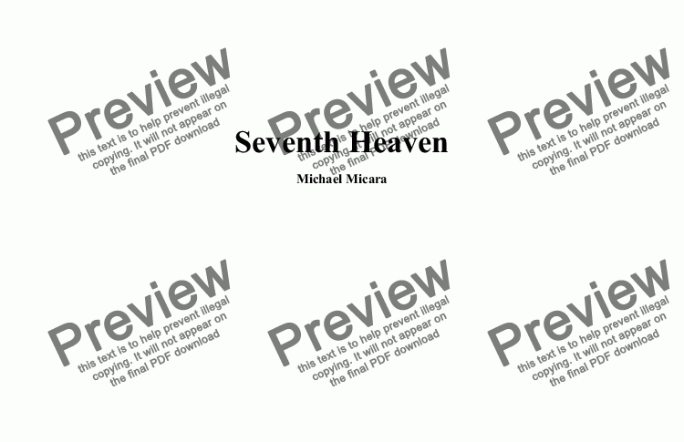 page one of Seventh Heaven
