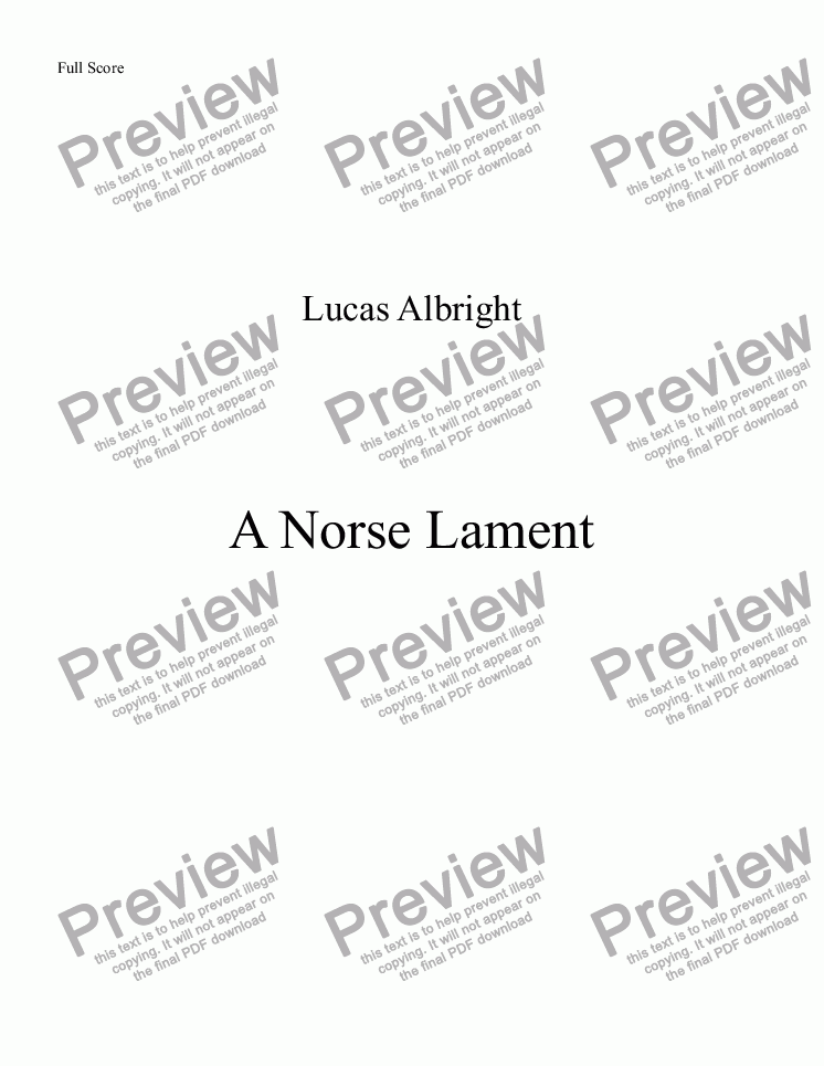 page one of A Norse Lament