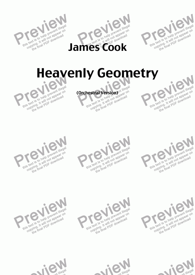 page one of Heavenly Geometry