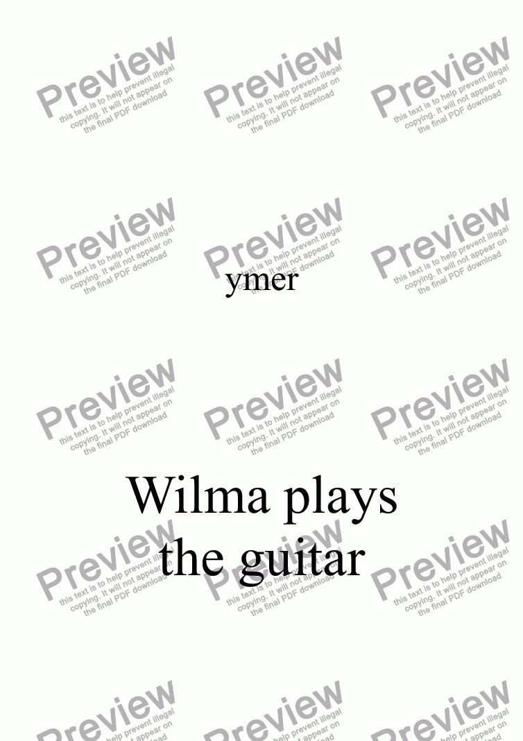 page one of Wilma plays the guitar