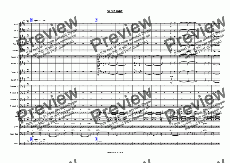 page one of SILENT NIGHT bigband-christmasASALTTEXT