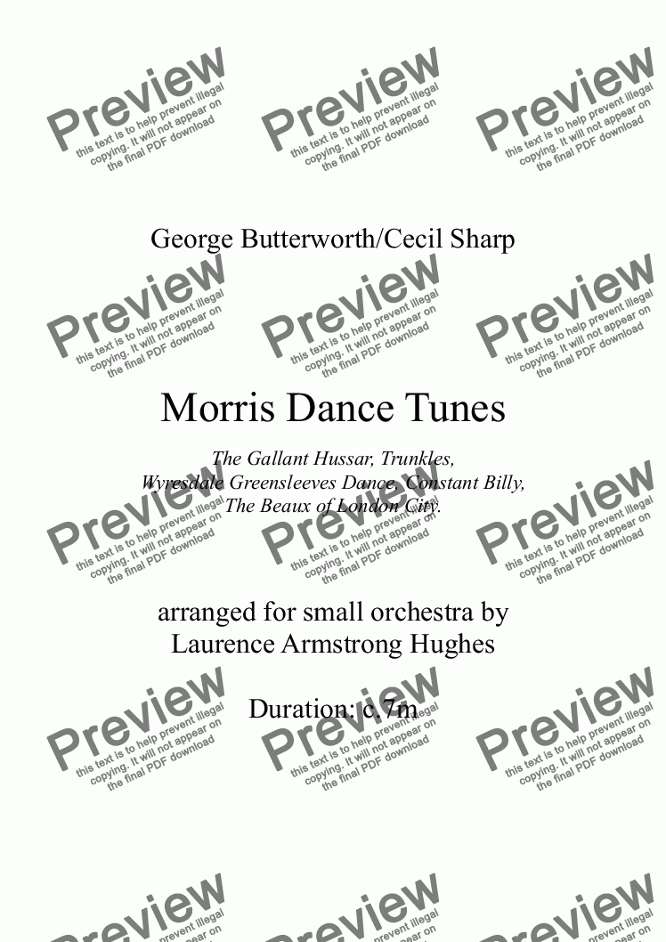 page one of Morris Dance TunesASALTTEXT