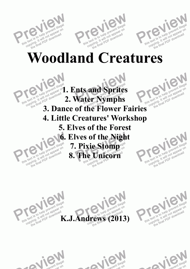 page one of Woodland Creatures: 1. Ents and Sprites