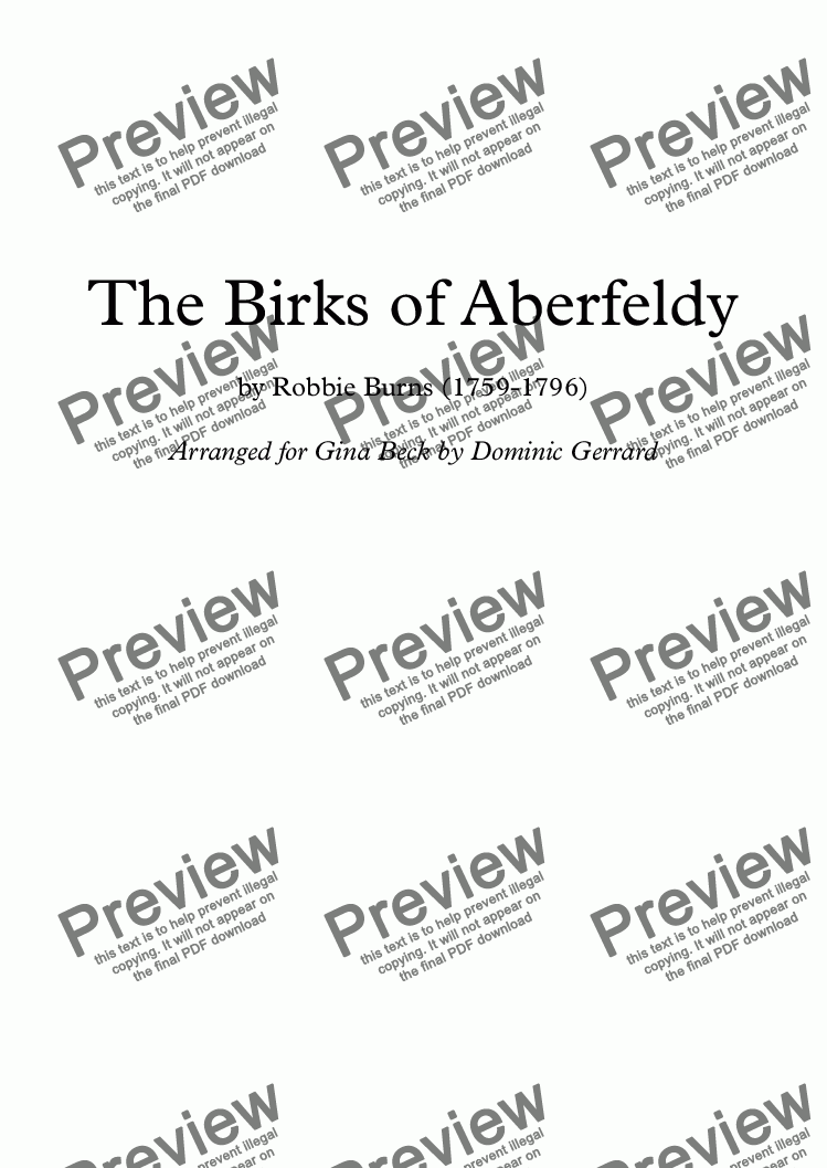 page one of The Birks of Aberfeldy