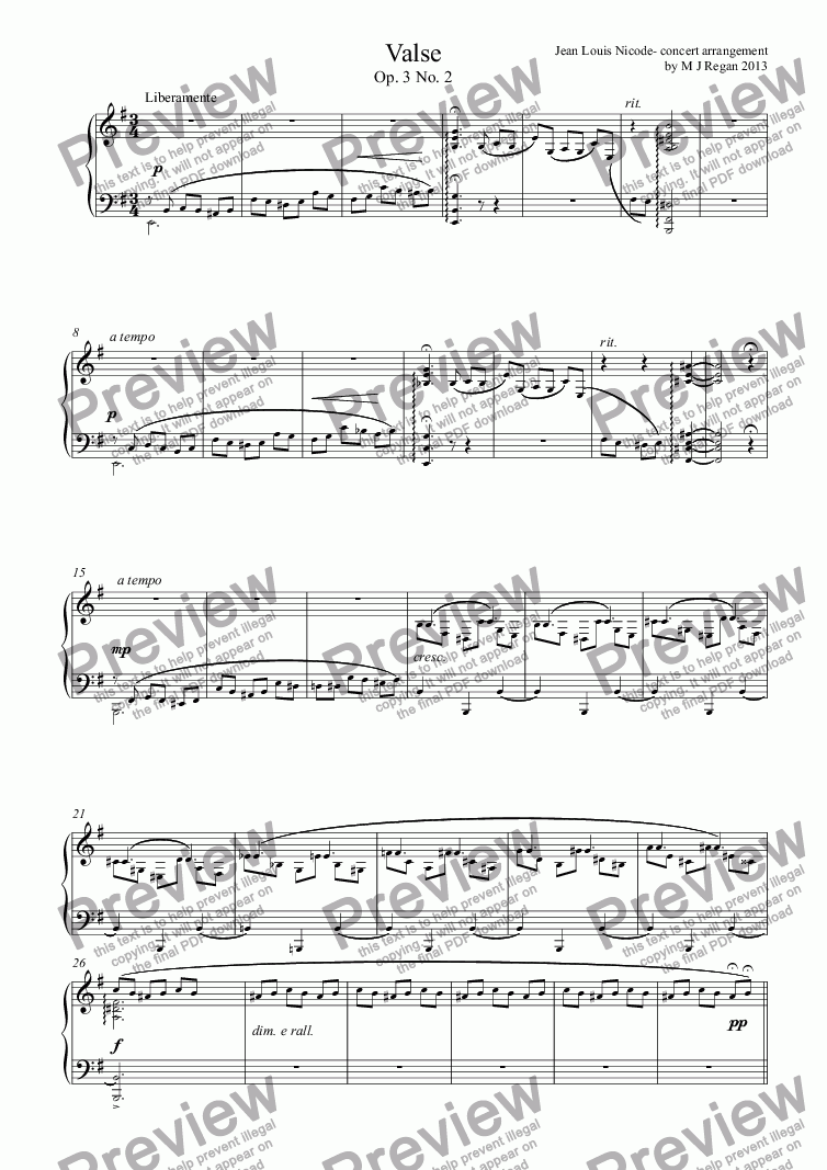 page one of Valse Brillante