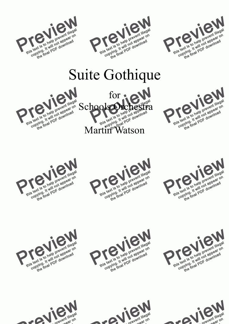 page one of Suite Gothique for Orchestra