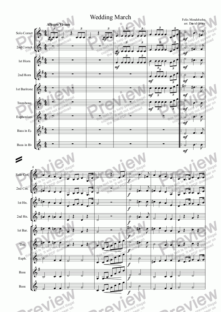 page one of Wedding March [Mendelssohn]