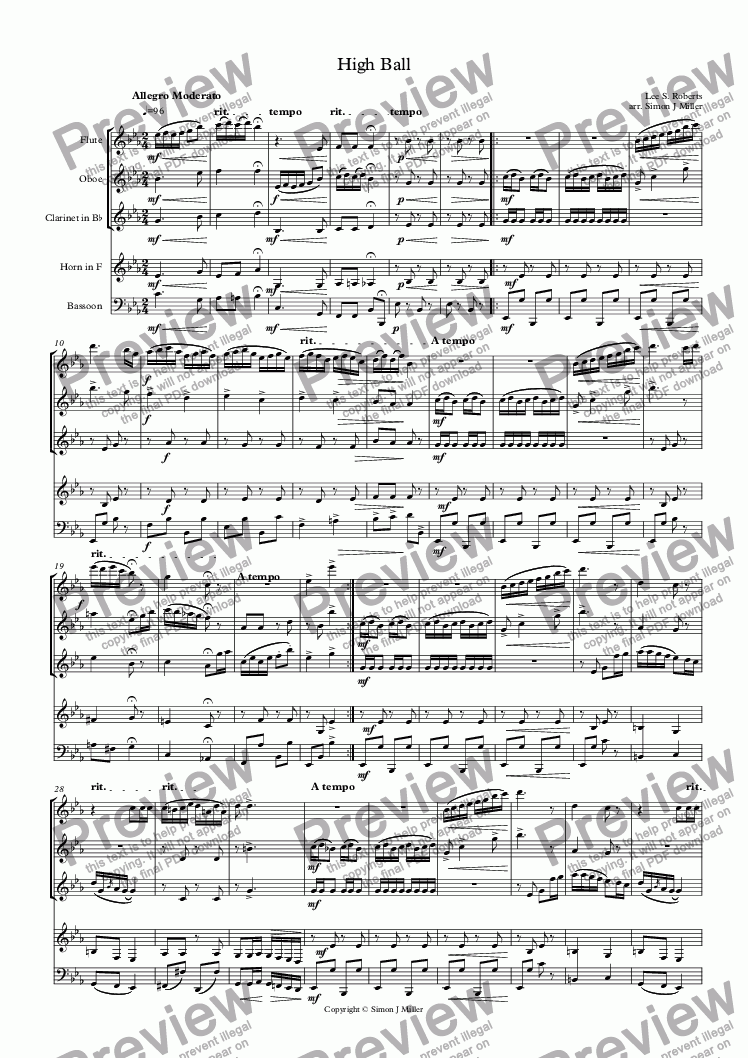 page one of High Ball
