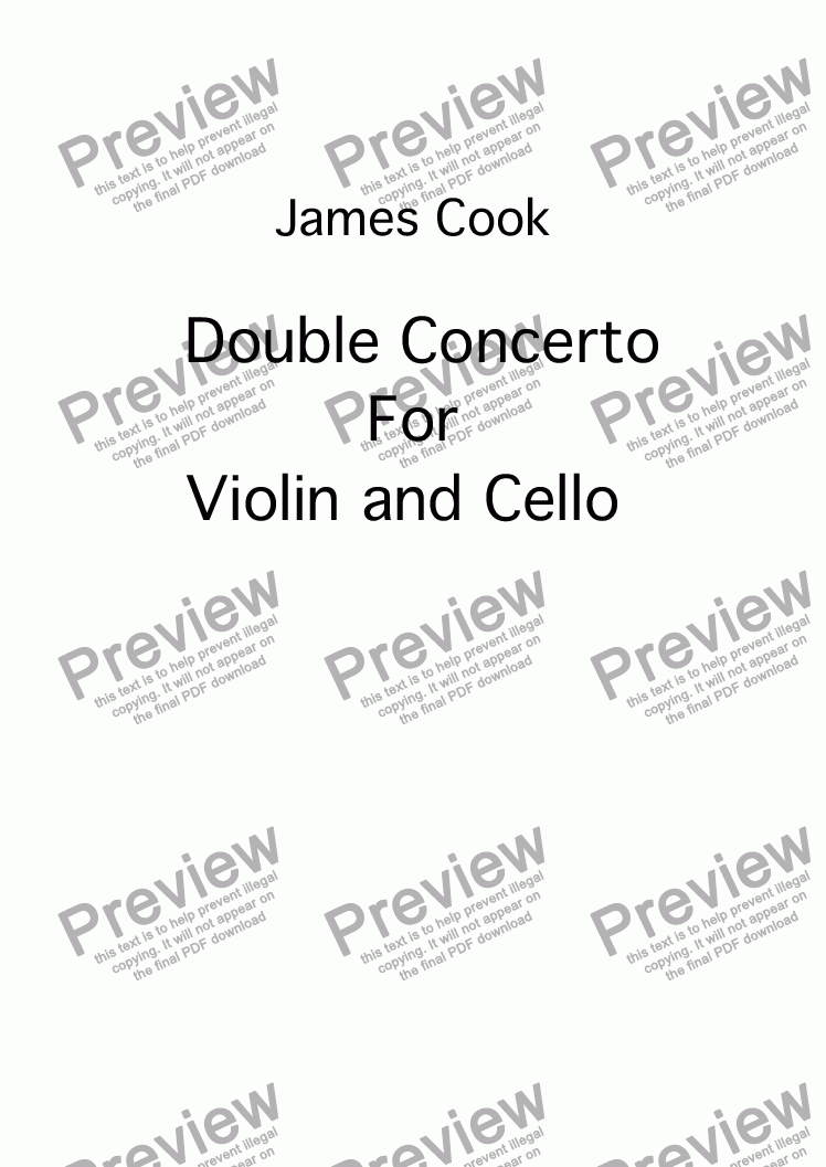 page one of Double Concerto