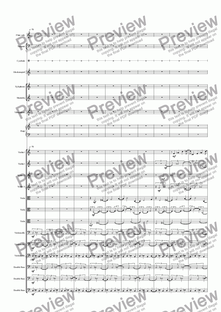 page one of Flute Concerto, Movement III
