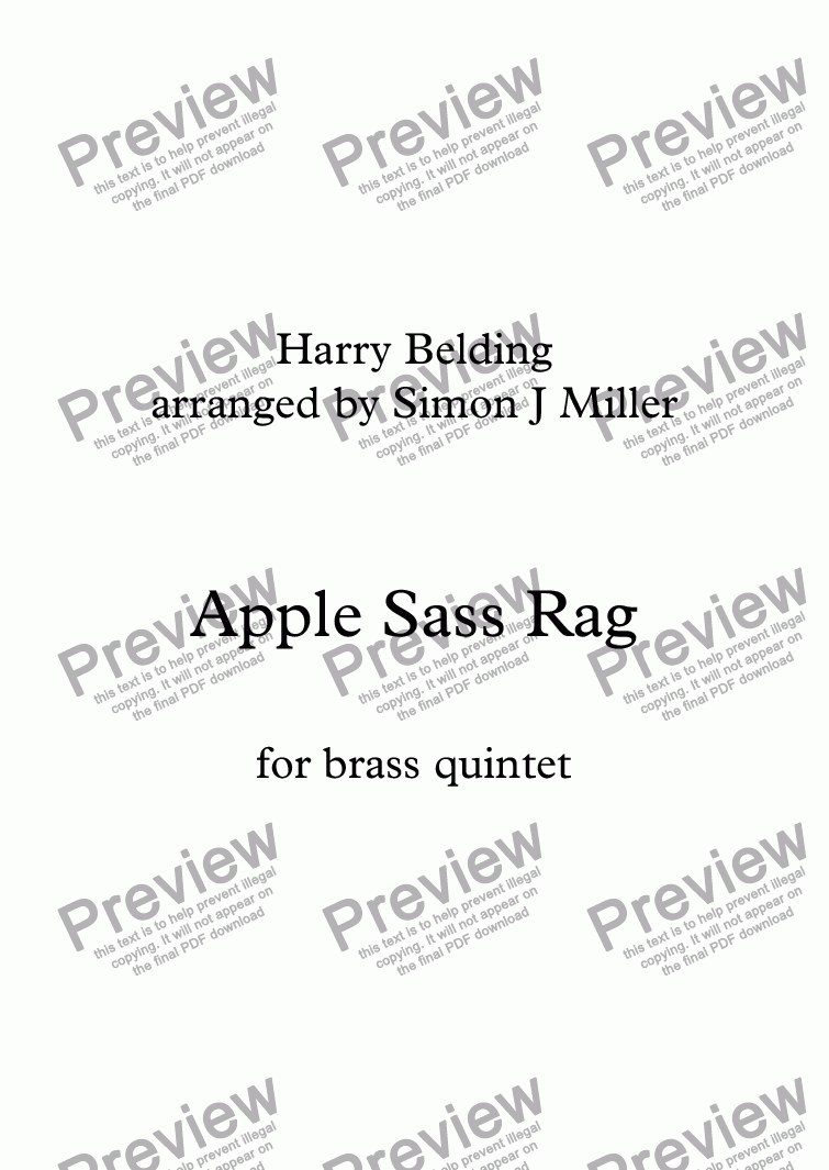 page one of Apple Sass Rag