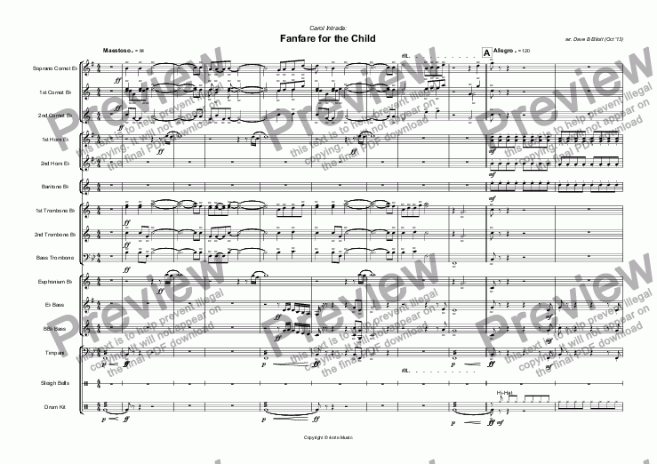 page one of Fanfare for the Child (Carol Intrada)ASALTTEXT