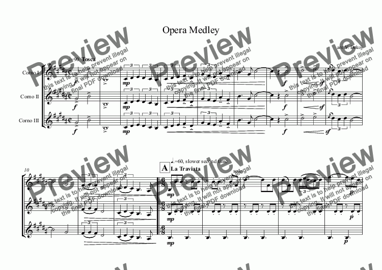 page one of Opera Medley