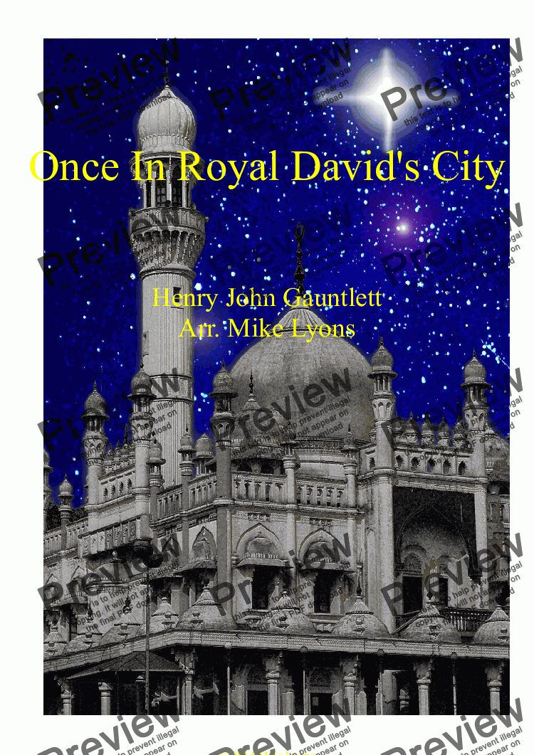 page one of Brass Band - Once In Royal David's City
