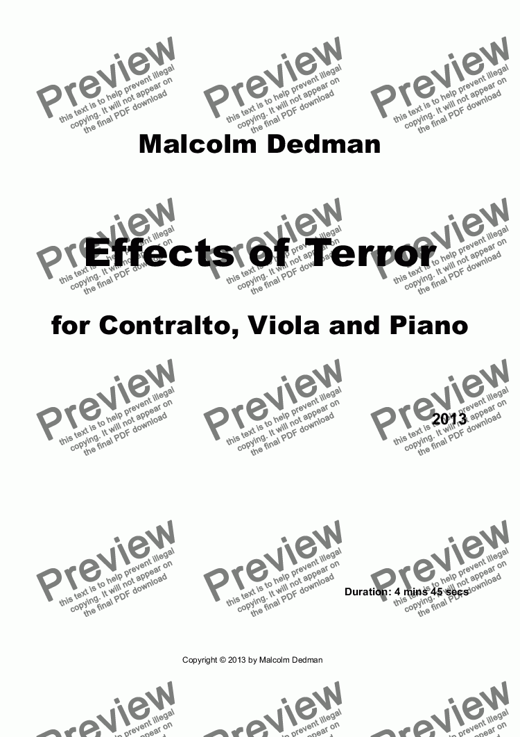 page one of Effects of Terror