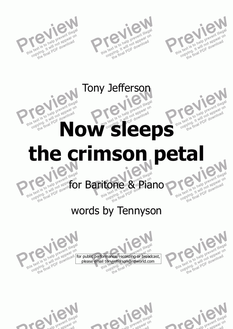 page one of Now sleeps the crimson petal