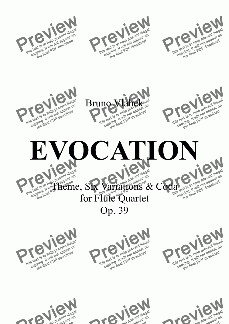 page one of EVOCATION
