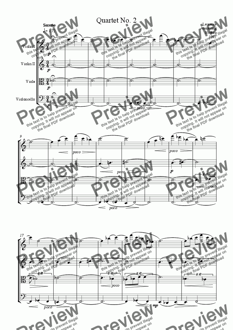 page one of String Quartet No. 2ASALTTEXT